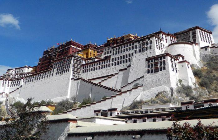 China Tibet Potala banner
